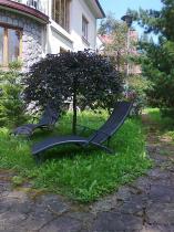 Aluminiowy leżak ogrodowy składany z textiline