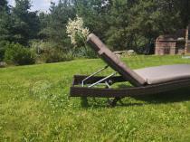 Aranżacja: Leżak do ogrodu technorattanowy z poduszką Nilamito Brown & Caffe