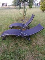 Aranżacja: Leżak ogrodowy aluminiowy Relax czarny
