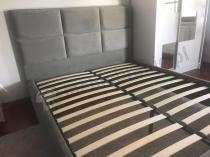 Aranżacja: Łóżko sypialniane tapicerowane szare 160x200 Matanza