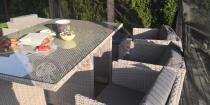 Aranżacja: Meble na taras technorattan składane w kostkę Pavolo Double Grey
