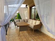 Aranżacja: Narożnik z technorattanu Capri Dining beige