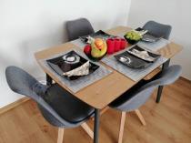 Aranżacja: Zestaw do jadalni stół i krzesła 4 + 1 Enok V 4
