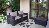 Aranżacja Zestaw mebli ogrodowych California 3 Seater - Brąz