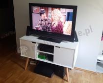 Biała komoda do salonu pod telewizor Actona Mitra