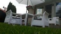 Białe meble ogrodowe rattan zestaw mebli Corfu Fiesta