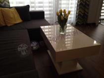 Biały stolik do salonu wysokość 50 cm długość 90 cm