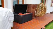Brązowa skrzynia na taras Keter Borneo Box