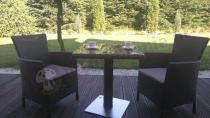 Brązowe fotele ogrodowe Rattan Style Iowa DC