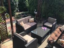 Brązowe zestawy wypoczynkowe na taras Modena Lounge Set