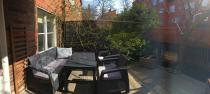 Corfu meble ogrodowe z podnoszonym stolikiem Lyon w kolorze grafitowym