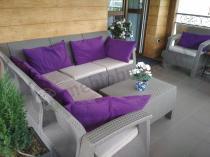 Corfu Relax Duo narożnik meble ogrodowe z fotelami cappuccino