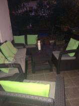 Corfu Set Triple Max brązowy w wieczornej aurze