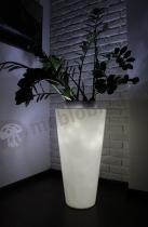 Della donice podświetlane LED na duże rośliny 75 cm