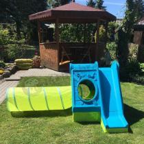 Domek dla dzieci do ogrodu z tunelem Keter Funtivity Playhouse