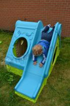 Domek dla dzieci z plastiku niebiesko-zielony