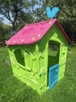 Domek ogrodowy dla dziecka z kogutem na dachu zielony Keter