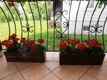 Doniczki ogrodowe drewniane kolor orzech długość 60 cm