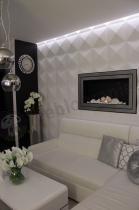 Ekskluzywne dekoracje ścienne Diamonds w aranżacji w stylu glamour