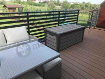 Elegancka skrzynia na balkon taras z tworzywa sztucznego