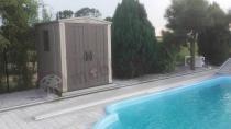 Elegancki domek ogrodowy na basen Keter Factor 6x6