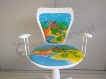 Ergonomiczne krzesło do biurka dla dziecka z dinozaurami