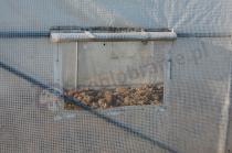 Folia zbrojona na tunele ogrodnicze z białą siatką wzmacniającą