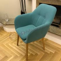Fotel krzesło Emilia tapicerowane turkusowe