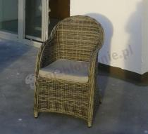 Fotel technorattan elegancki model Primo z poduszką