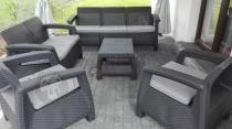 Keter Corfu Set Triple Max Curver - meble ogrodowe z dwoma sofami