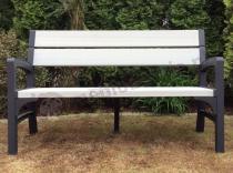 Keter Montero ławka plastikowa ogrodowa z podłokietnikami