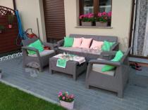 Komplet do ogrodu w stonowanym kolorze Corfu Set Max