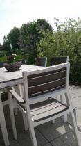 Komplet mebli ogrodowych stołowych Florence White Tortora