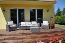 Komplet mebli ogrodowych wypoczynkowych na taras rattan look