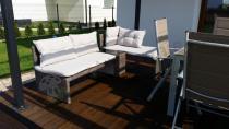 Komplet ogrodowy technorattan z zestawem ogrodowym stołowym