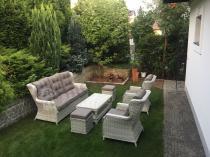 Komplet wypoczynkowy technorattan w ogrodzie Trivento 3 Melange White