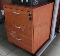 Kontener do biura na kółkach z dodatkowo zamykanymi szufladami Svenbox KH13 w kolorze calvados