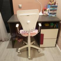 Krzesełko obrotowe dla dziewczynki w różowym kolorze Ministyle Princess