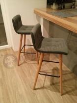 Krzesła barowe nowoczesne jasnoszare hoker Actona Frida