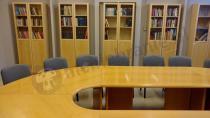 Krzesła konferencyjne ISO tapicerowane szaro-czarne