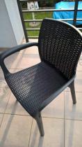 Krzesła ogrodowe technorattan look Bali Mono