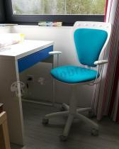 Krzesło obrotowe do biurka Ministyle dziecięce niebieskie