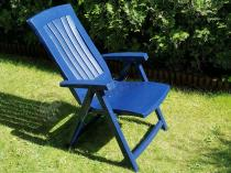 Krzesło ogrodowe plastikowe składane Corsica niebieskie