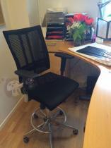 Krzesło pracownicze do biura chromowane Ring Base