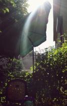 Kwadratowy parasol ogrodowy zielony Sunline Waterproof III