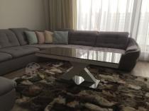 Ława Xenon Mini wysoki połysk szara w nowoczesnym salonie