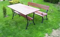Ławka ogrodowa Królewska z prostokątnym stołem