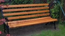 Ławki ogrodowe metalowo drewniane z oparciem 150cm