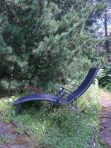 Leżak aluminiowy składany na pół Relax