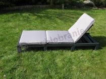 Leżak basenowy, ogrodowy Daytona grafit z podniesionym oparciem